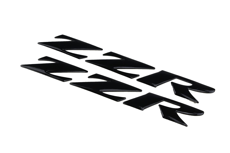 Silver PRO-KODASKIN Motorcycle 3D Raise ZZR Emblem Sticker Decal for Kawasaki ZZR250 ZZR400 ZZR600 ZZR1400