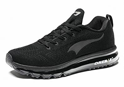 19484909c305 ONEMIX Men s Running Sport Shoes 3D Knit Air Cushion Lightweight Walking  Gym Athletic Outdoor Trainer Sneaker
