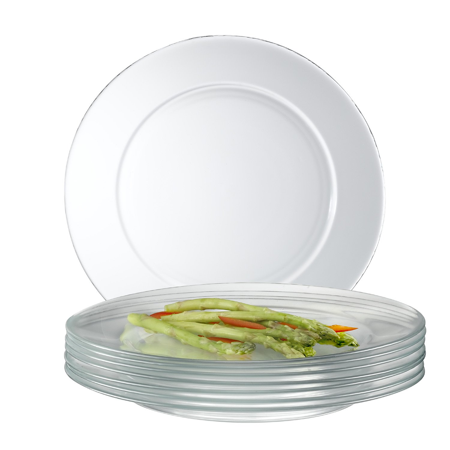 Amazon.com | Arc International Luminarc Directoire Clear Dinner Plate Set of 12 Glass Plates Clear Accent Plates  sc 1 st  Amazon.com & Amazon.com | Arc International Luminarc Directoire Clear Dinner ...