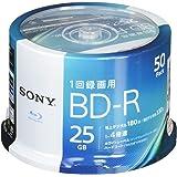 ソニー(SONY) ビデオ用ブルーレイディスク 50BNR1VJPP4 (BD-R 1層:4倍速 50枚パック)