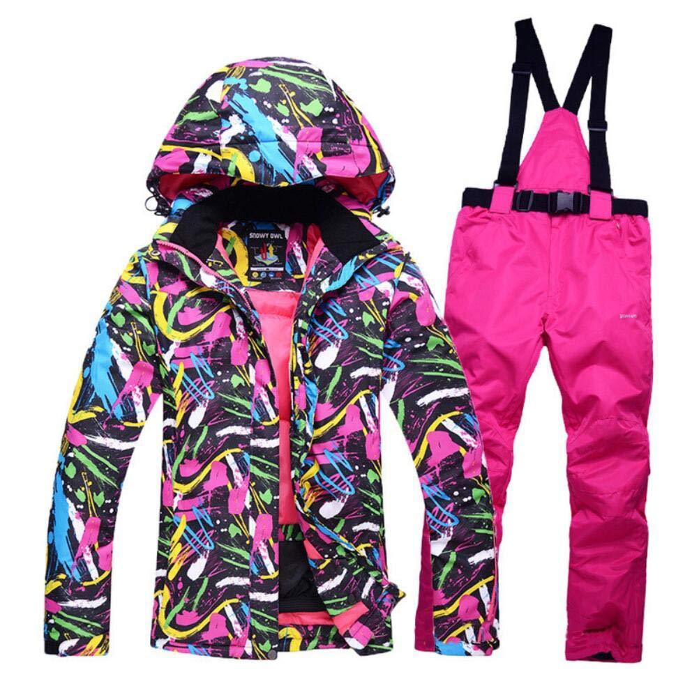 Z&X Skijacke - Wasserdichter Skianzug Schneeanzug Winter Skifahren Warm halten Damen Skijacke und -Hose für Snowboard, Bergsteigen - Mehrfarbig B07MFTYGGY Bekleidung Heißer Verkauf