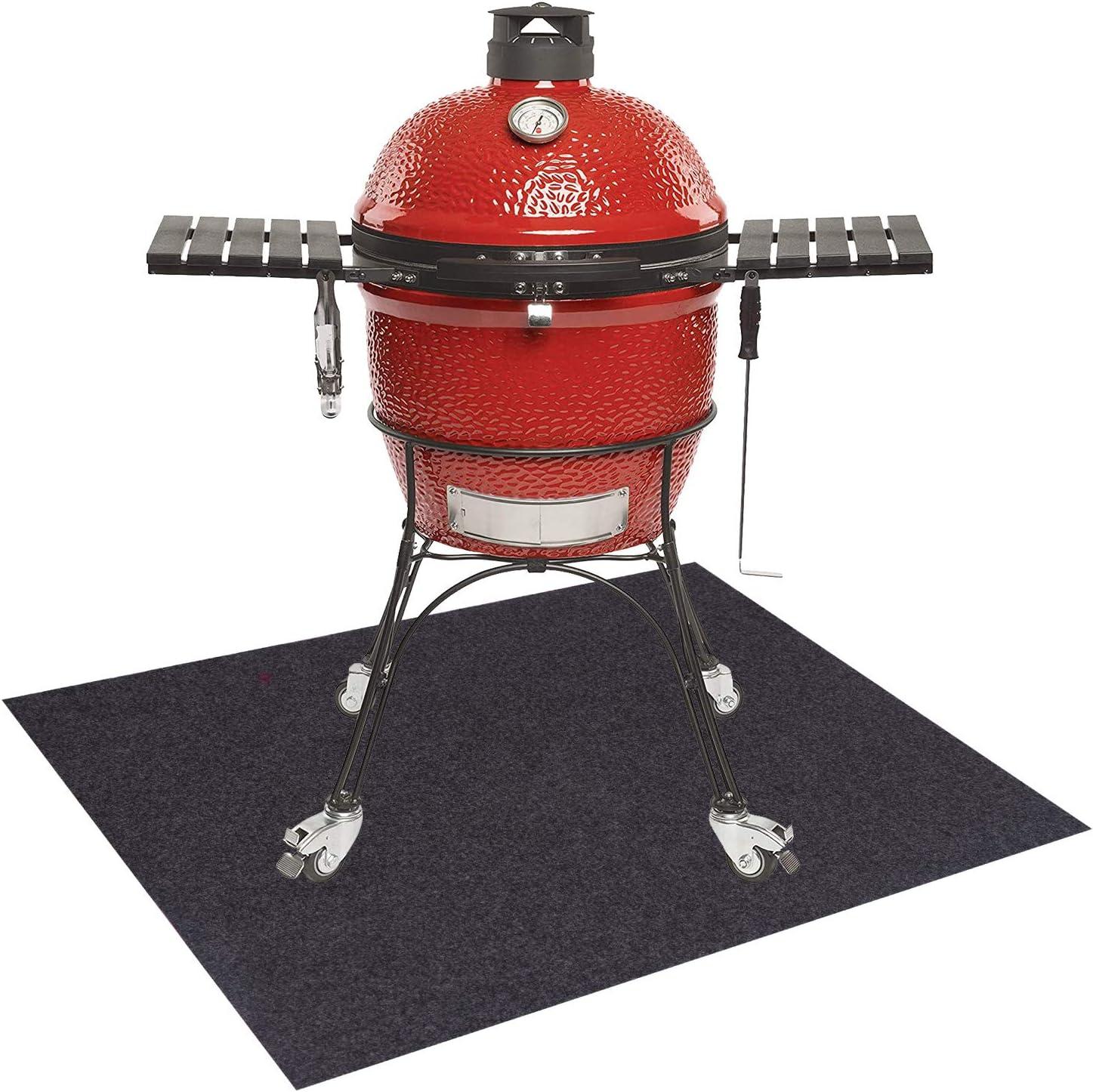 Amazon Com Uterstyle Bbq Floor Protective Rug Anti Stain Fireproof Heat Resistant Grill Splatter Mat Pad For Backyard Outdoor Deck Patio Garden Outdoor