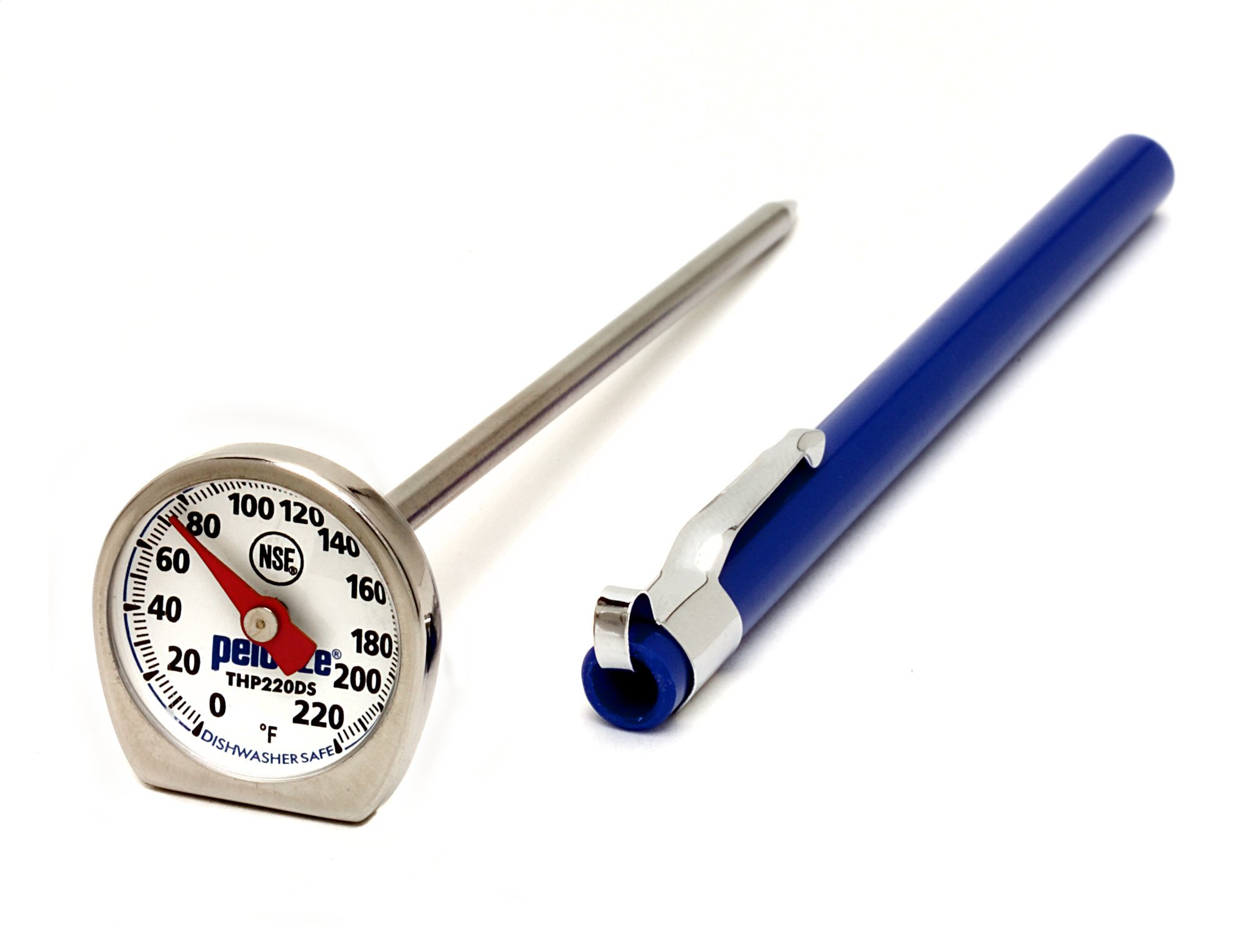 Rubbermaid Commercial Products Food/Meat Instant Read Thermometer, Pocket Size, Dishwasher Safe (FGTHP220DS)