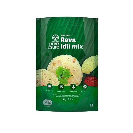 Pure & Sure Organic Rava Idli Mix, 250g
