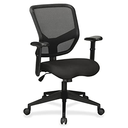 Lorell LLR84565 Executive Mesh Mid Back Chair, 5u0026quot; Height X 27.2u0026quot;  Width