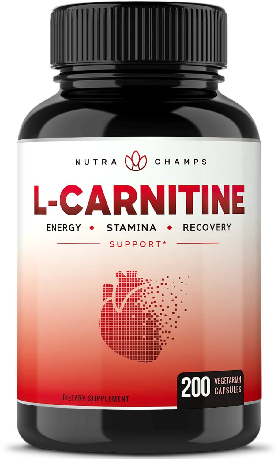 L-Carnitine 1000mg - 200 Vegan Capsules for Energy, Stamina, Recovery, Fat Metabolization, Heart Health, Weight Loss - Best Value Vegetarian L Carnitine 500mg Pills by NutraChamps