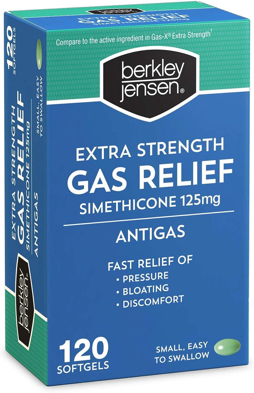 Berkley Jensen Extra Strength Gas Relief Softgels, 120 ct.: Health & Personal Care