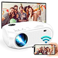 """Wireless WiFi Mini Portable Projector,2020 Updated WEILIANTE HD Movie Projector, Support Dolby 50,000Hrs, 200"""" Display…"""