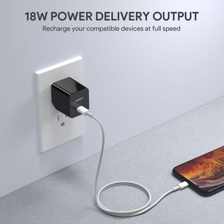 Amazon.com: AUKEY Cargador USB C con 18 W de entrega de ...