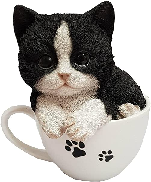 Rocking Black /& White Kitten  Vivid Arts Indoor and Outdoor Ornament