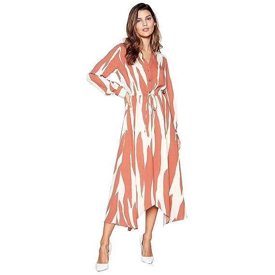 56a47539 Principles Womens Tan Zebra Print Hanky Hem Maxi Dress 16: Principles:  Amazon.co.uk: Clothing