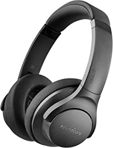 Soundcore Life 2 Active Noise Cancelling Over-Ear Wireless Headphones, Hi-Res Audio, 30-Hour Playtime, CVC Noise Cancellation, BassUp Technology, Memory-Foam Ear Cushions, and Travel Case [2019 New]