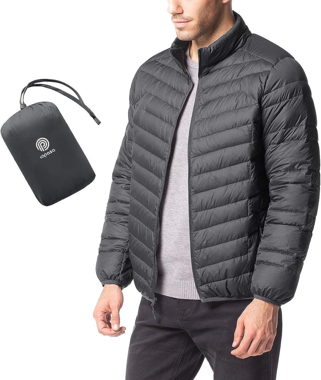 LAPASA Giacca da Uomo Piumino Corto Cappotto Invernale Leggero e Caldo Manica Lunga M32