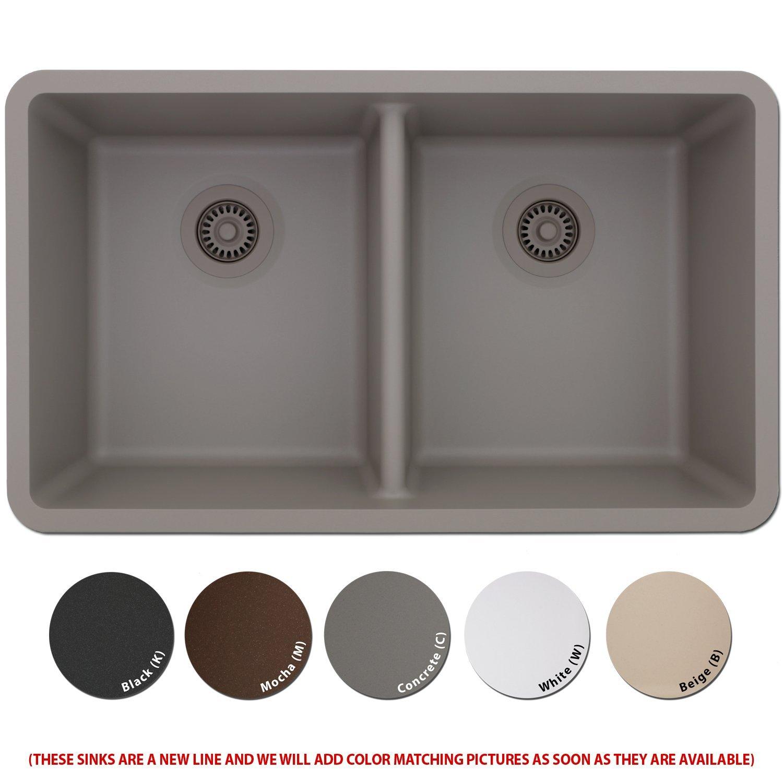 Amazon.com: Lexicon Platinum Quartz Composite Kitchen Sink - Large ...