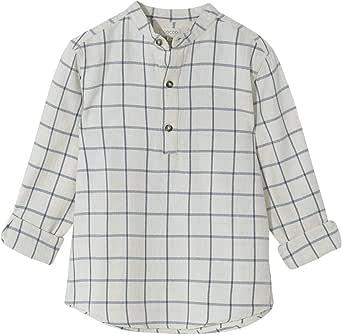 Gocco Camisa Cuadros Cuello Mao, Camisa para Niños
