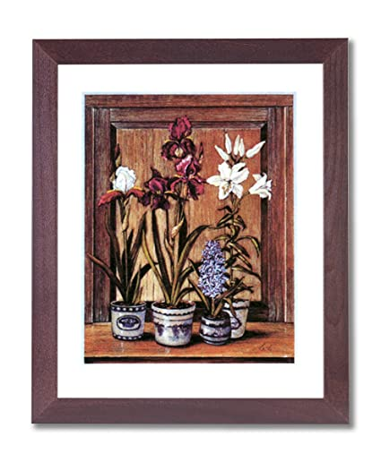 amazon com country irises flowers wall decor contemporary picture