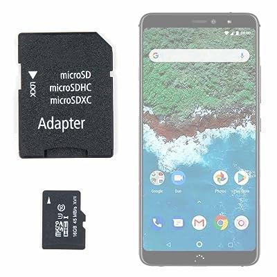 DURAGADGET Tarjeta de Memoria Micro SD HC 16 GB + Adaptador para Smartphone BQ Aquaris X2, BQ Aquaris X2 Pro
