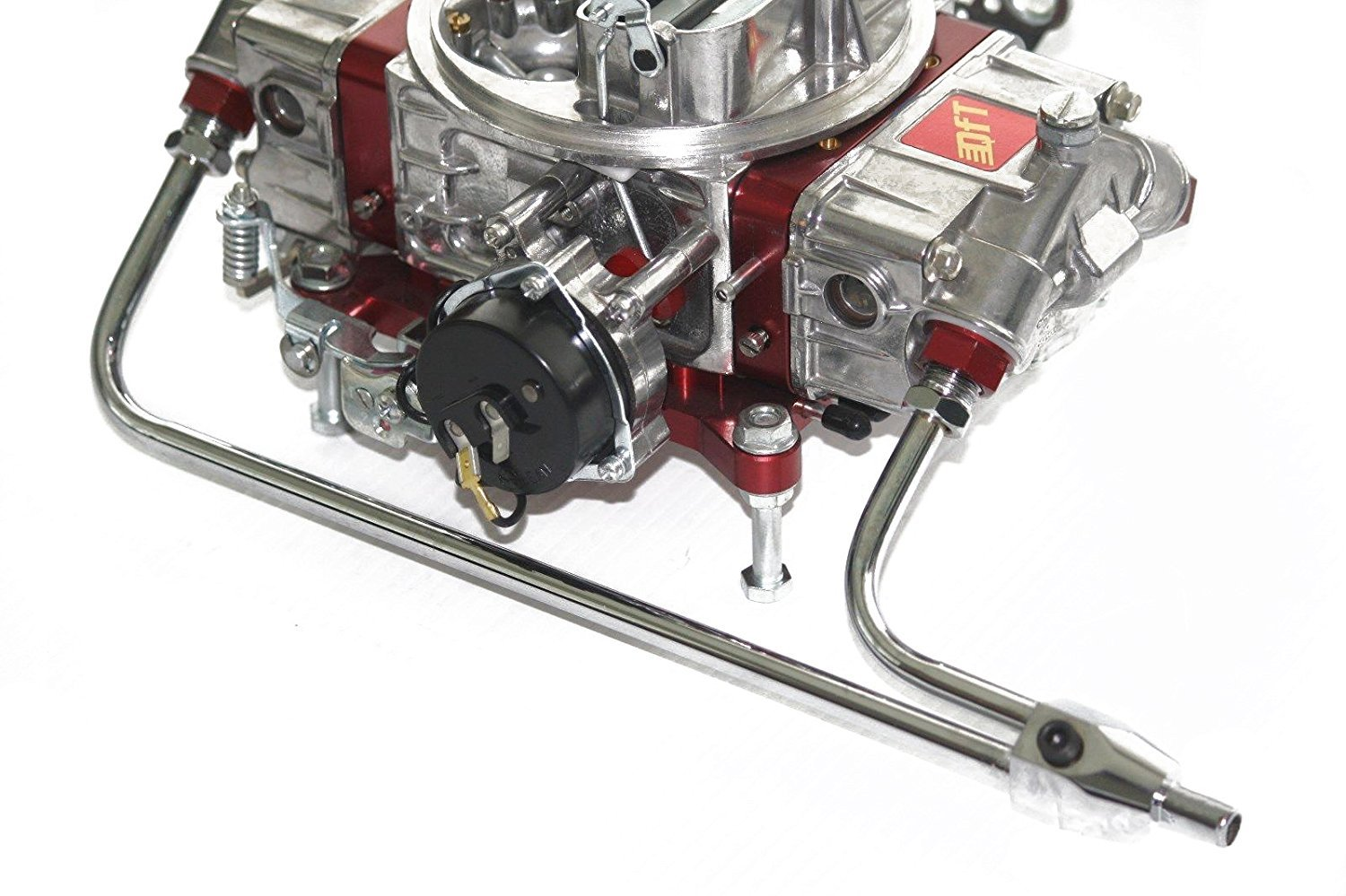Holley 4150 Double Pumper Chrome Dual-Feed Fuel Line WITH GAUGE  FUEL FILTER KIT
