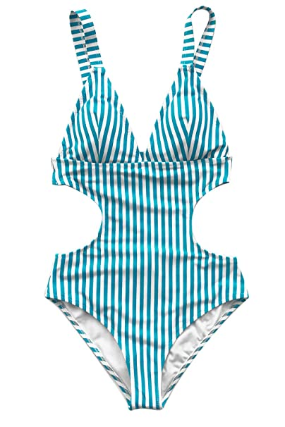 da26a83b58 CUPSHE FASHION Beyond Praise Stripe One-Piece Swimsuit Beach  SwimwearBathing Suit: Amazon.ca: Clothing & Accessories