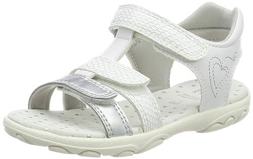 GEOX Sandalen 'Cuore' Mädchen, Silber Weiß, Größe 29