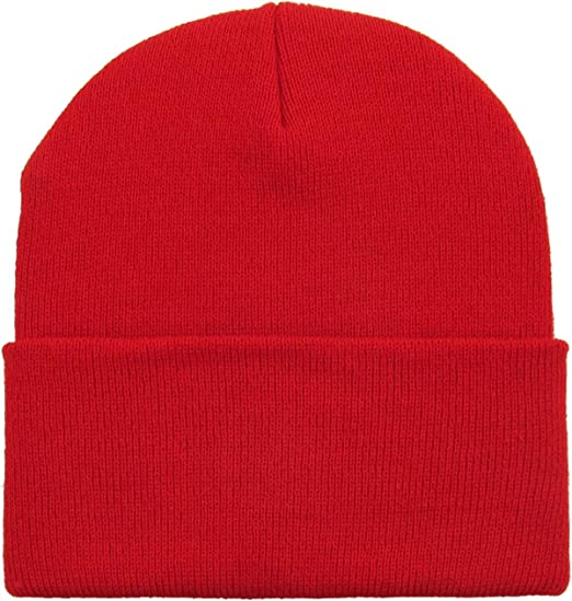 ff36807c8b2 Mens Daily Cuffed Beanie Thick Warm Comfy Made in USA for USA Knit HAT Cap  Womens