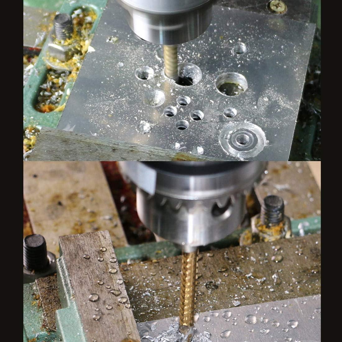 Eine elektrische Bohrmaschine Akkuschrauber-Set LLD 6 PCS//Set High Speed Steel gerader Schaft Spiralbohrer for Bohren von Metall Holz und Kunststoff High-Speed-Stahl Zylinderschaft Metallspiralbo