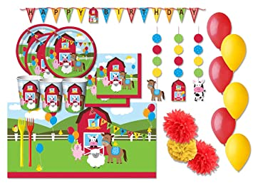 Creative Converting Kit n 54 f Granja coordinada cumpleaños niños