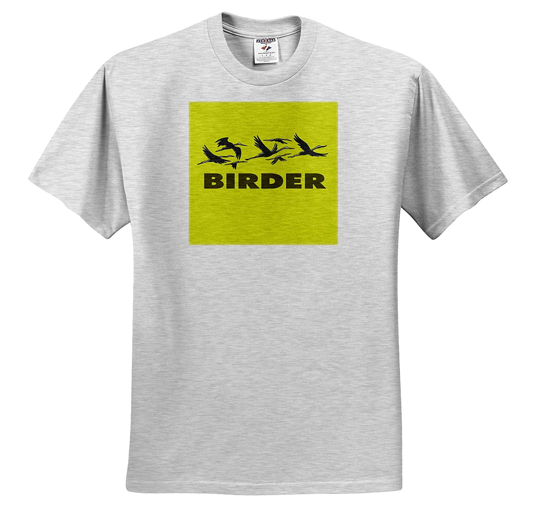 3dRose Kike Calvo Bird Watching and Ornithology Yellow Birder T-Shirts