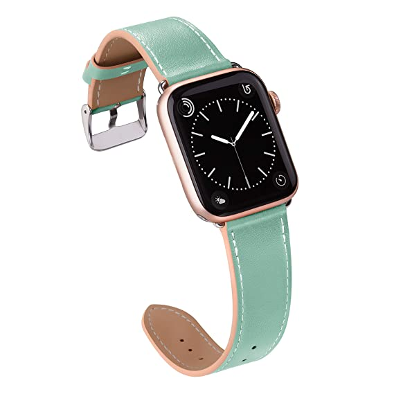 255c5c507d65 MARGE PLUS Compatible with Apple Watch Band 42mm 44mm, Genuine Leather Replacement  Band Compatible with