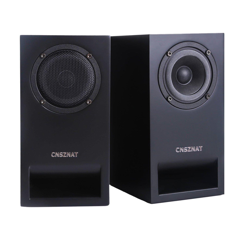 CNSZNAT P300 Passive Bookshelf Speakers ,3 Inch Desktop Speakers Hifi Speakers With Full Range Speaker (Black, Pair)