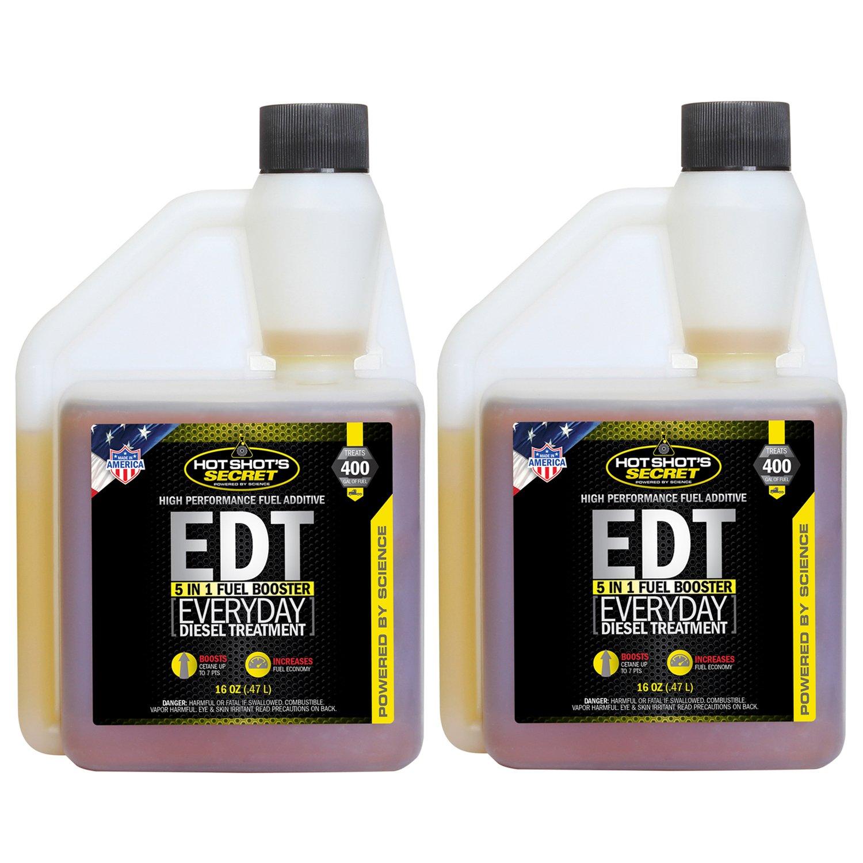 Hot Shot's Secret HSSEDT16ZSP2 Everyday Diesel Treatment 16 oz, 16. Fluid_Ounces, 2 Pack by Hot Shot's Secret