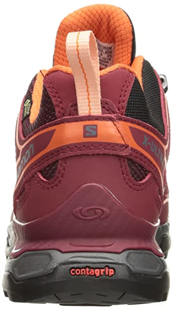 Amazon.com | Salomon Womens X Ultra 2 GTX W Trail Runner, Fig/Tibetan Red/Flame, 8 B | Trail Running