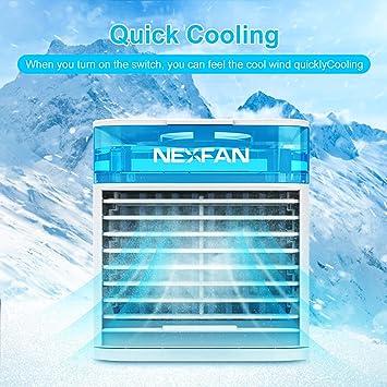 UBEGOOOD - Climatizador portátil, mini enfriador de aire, USB ...