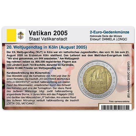 Monete Carta Senza Moneta Per 2 Euro Gedenkmuenze Vaticano 2005