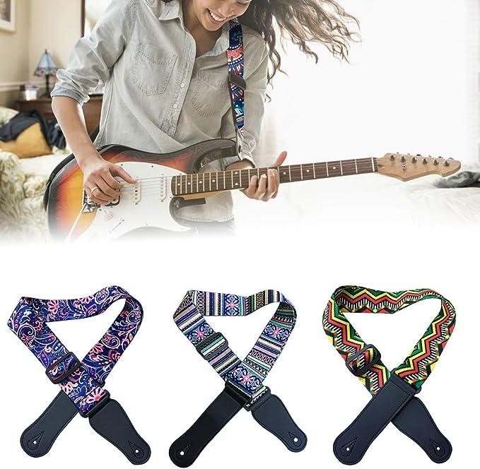 Correa de bajo para guitarra acústica, ajustable, diseño de ...