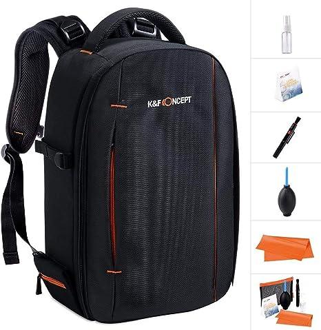 K&F Concept Mochila para Cámara DSLR Trípode y Portátil Laptop 12inch con Kit de Limpieza: Amazon.es: Electrónica