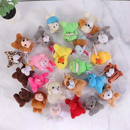 Toyvian - Mini Surtido de Peluches de Animales para Colgar ...