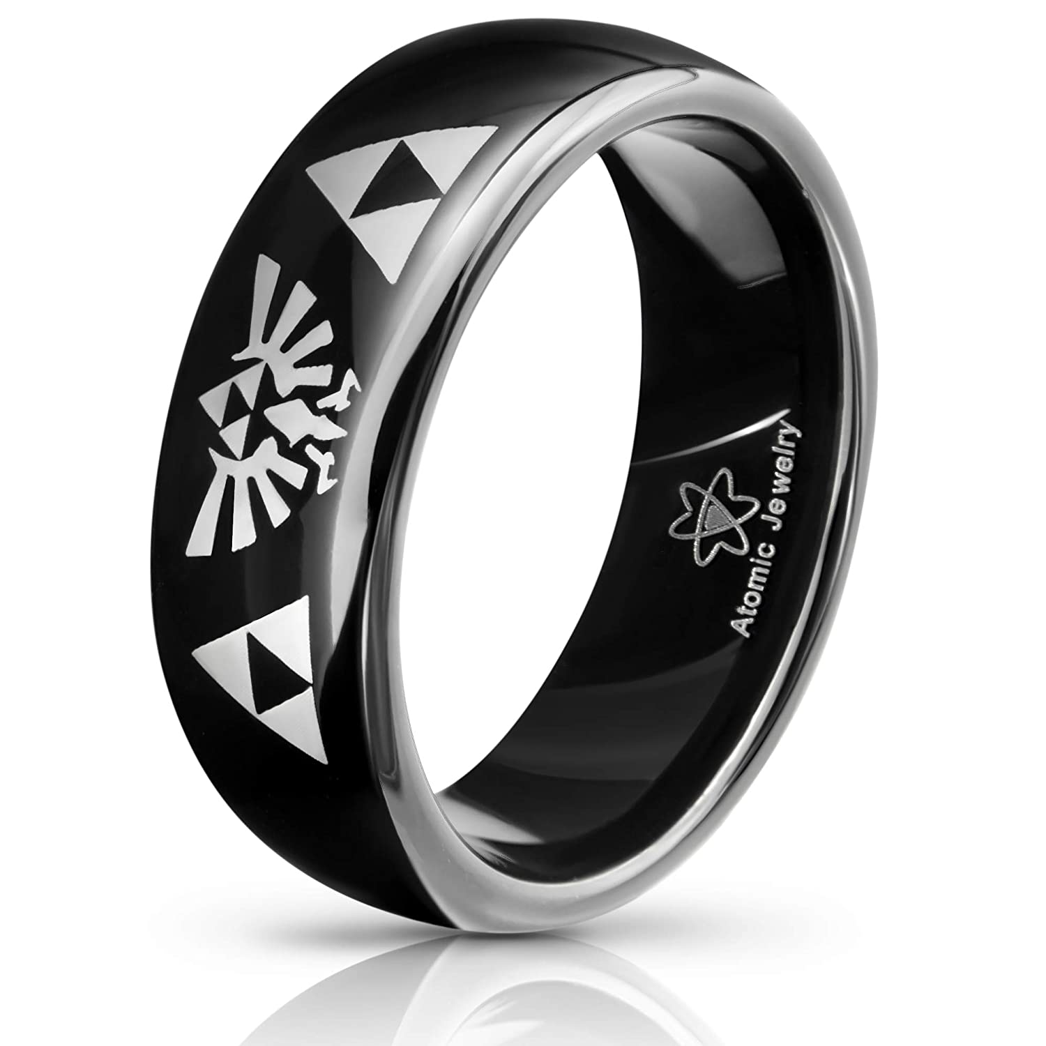 Atomic Jewelry Legend of Zelda Triforce Tungsten Carbide