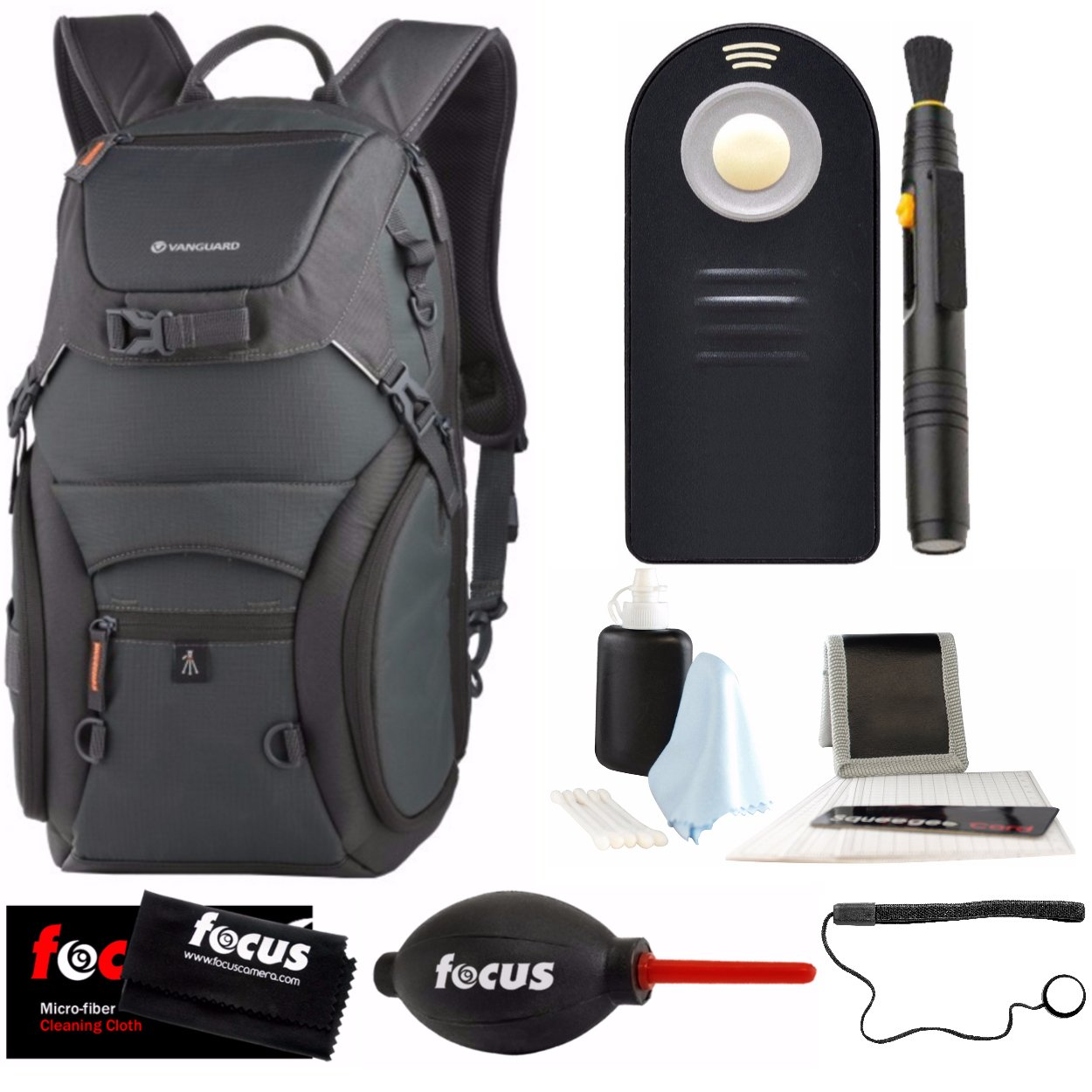 Vanguard Adaptor 46 Daypack Backpack for DSLR Camera Gear & 13-inch Laptop, with Photo Accessories Bundle