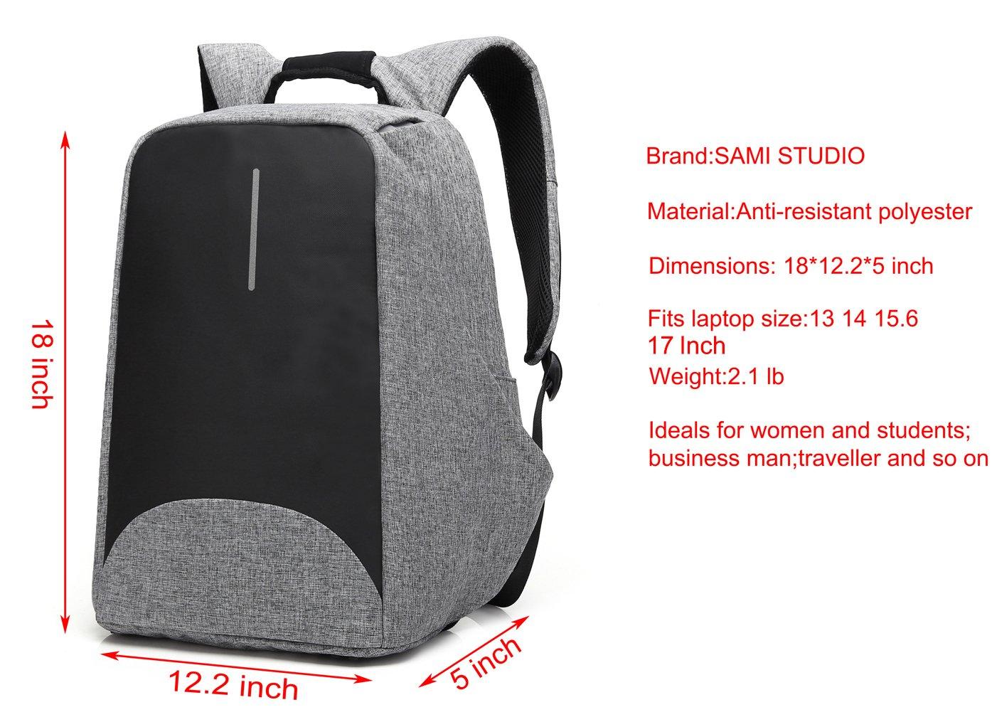 Laptop Anti theft Backpack Lightweight Resistant Business school Rucksack