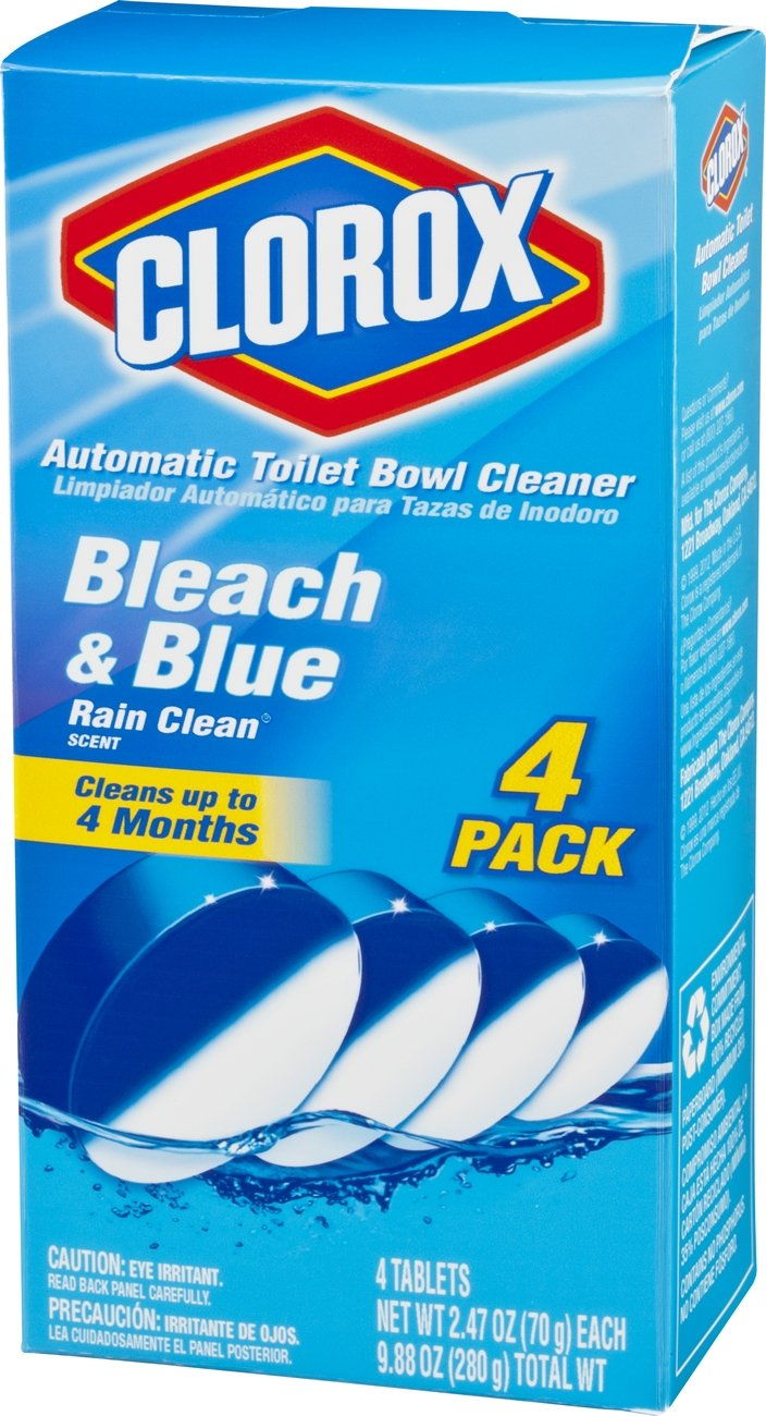 Amazon com  Clorox Automatic Toilet Bowl Cleaner  Bleach and Blue  Rain  Clean Scent  2 47 Ounce  4 Count  Health   Personal Care. Amazon com  Clorox Automatic Toilet Bowl Cleaner  Bleach and Blue