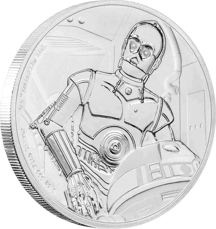 Promoción por tiempo limitado Moneda de Plata Star warstm – 999 Fein Plata – Pulido Placa (PP) – En Estuche Incluye Certificado, 4260578490436
