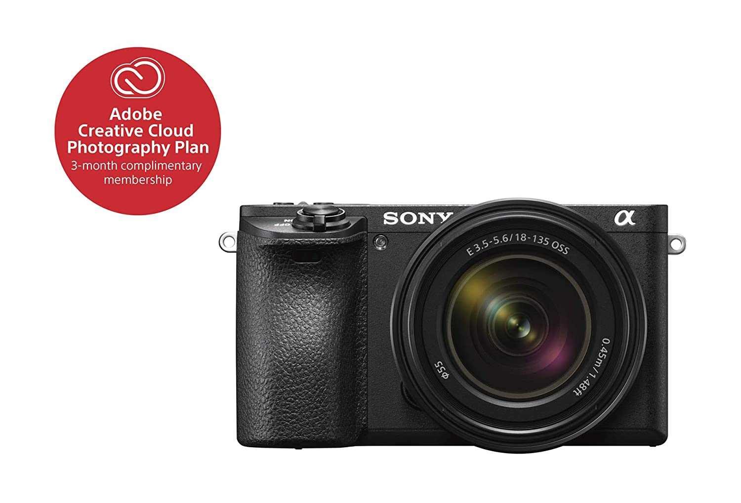 Sony ILCE6500M/B A6500 Mirrorless Camera with 18-135mm Lens SLR, Black Sony Electronics Inc.