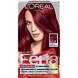 L'Oreal Paris Feria Multi-Faceted Shimmering Permanent Hair Color, R57 Cherry Crush (Intense Medium Auburn), Pack of 1…