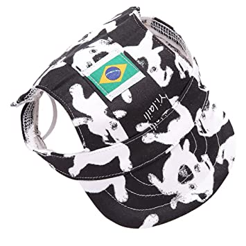 a30a2611438 Adarl World Cup Pet Baseball Cap Dogs Sport Hat Dog Visor Cap With Ear  Holes For