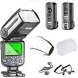 Neewer® NW565EX E-TTL Slave Flash Kit Professionale per Canon EOS 650D 600D 1100D 1000D 550D 500D 450D 400D 350D 300D 5D Mark III 5D Mark II 6D 5D 7D 60D, 50D e altre Fotocamere Canon DSLR, Include: Neewer Flash + Trigger + Cavi + Diffusori + Copriobiettivo