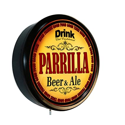 Amazon.com: PARRILLA Beer and Ale Cerveza Lighted Wall Sign ...
