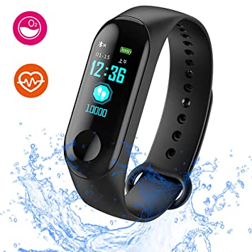 LIGE Smart Fitness Tracker, pantalla de color de 0,96 pulgadas ...