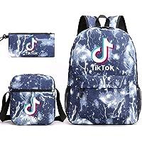 Tik Tok - Juego de 3 piezas para niños y niñas (bolsa de almuerzo, 1 bolsa de almuerzo, 1 mochila y 1 mochila de teñido…