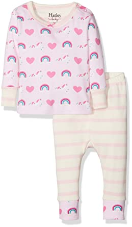 6514ec035 Hatley Baby Girls  Mini Organic Cotton Long Sleeve Pyjama Sets ...